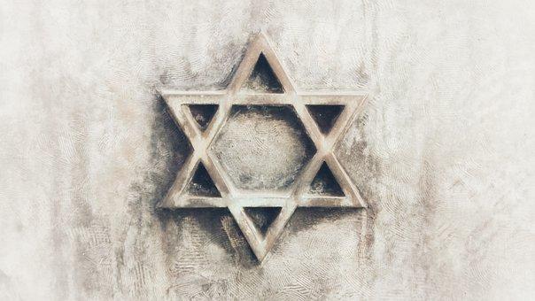 壁にある六芒星の紋章