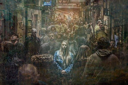 都会の孤独な女性